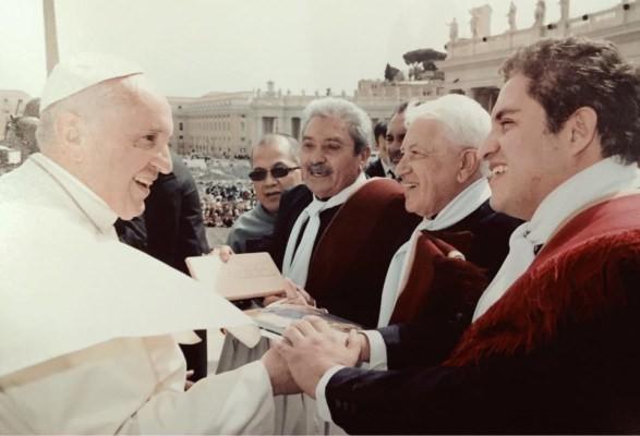 Los 4 de Córdoba fueron recibidos por el papa Francisco en el Vaticano