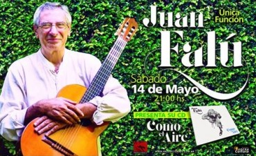 """Juan Falú presenta """"Como el aire"""" en el ND Teatro"""