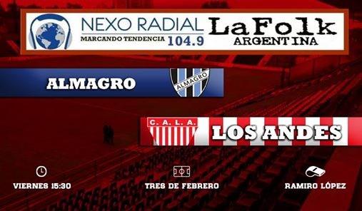El milrayitas visita a el Tricolor desde las 15:30 en VIVO por NEXO 104.9 Fm y LA FOLK ARGENTINA