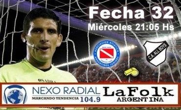 Argentinos Juniors vs All Boys 21:05 EN VIVO Primera B Nacional por NEXO 104.9 Fm