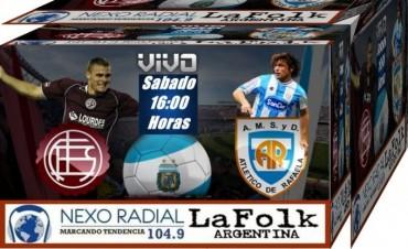 Lanús recibe a Atlético Rafaela EN VIVO este Sábado 16:00 Hs por NEXO 104.9 Fm y La Folk Argentina