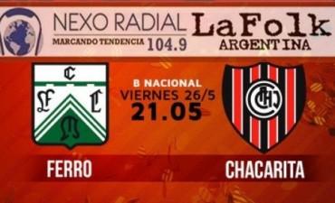 Ferro y Chacarita persiguen el mismo objetivo en VIVO desde las 21 por NEXO 104.9 Fm y La Folk Argentina