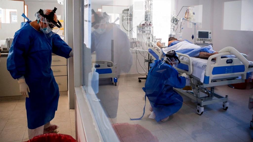 Coronavirus: se mantiene por encima del 80% la ocupación de camas de terapia intensiva