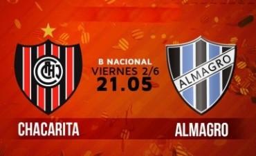 Chacarita Vs Almagro EN VIVO Primera B Nacional por NEXO 104.9 Fm y La Folk Argentina