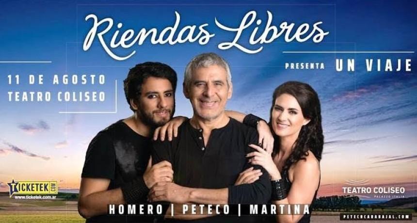 """Peteco Carabajal, Martina Ulrich y Homero Carabajal son """"RIENDAS LIBRES"""""""
