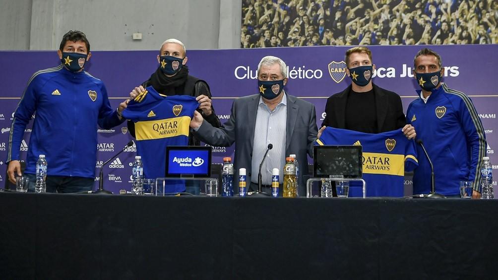 Boca sumó dos caras nuevas: presentó a Briasco y a Rolón