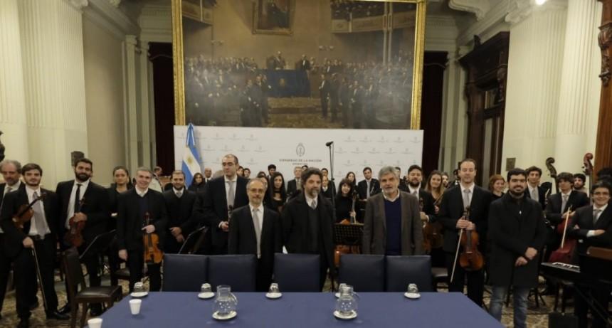 Se presentó un proyecto de ley para jerarquizar a la Orquesta Sinfónica Nacional
