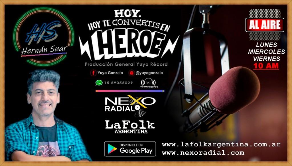 El reconocido Locutor de grandes campañas de publicidad en TV y Cine Hernán Suar, regresa a su primer amor, la Radio
