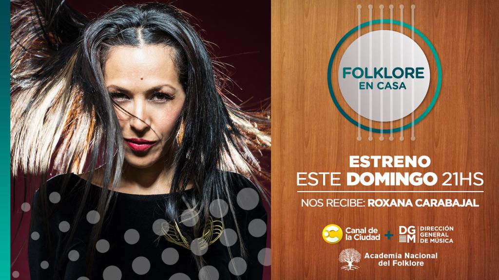 Roxana Carabajal en folklore en casa