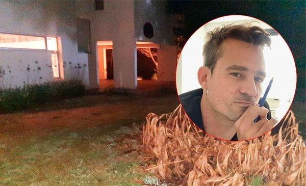 El fiscal inspecciona la casa donde fue baleado