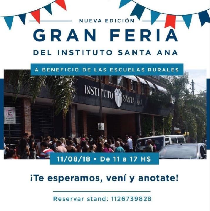 Feria a beneficio de las escuelas rurales en el Instituto Santa Ana