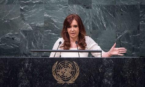 Cristina, ante la Asamblea General de la ONU: