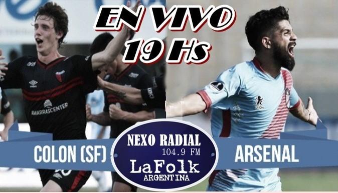 Arsenal vs Colón Superliga 2017-2018 Fecha 2 en VIVO por NEXO 104.9 Fm y La Folk Argentina