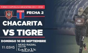 Tigre visitará a Chacarita en la 2ª jornada de la Superliga en VIVO por NEXO 104.9 Fm y La Folk Argentina
