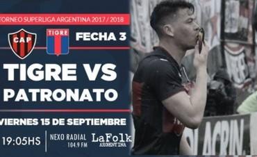 Tigre vs Patronato en la 3ª jornada de la Superliga en VIVO por NEXO 104.9 Fm y La Folk Argentina
