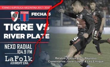 Tigre Recibe River Plate, en el José Dellagiovanna 20 Hs en VIVO por NEXO 104.9 Fm y La Folk Argentina