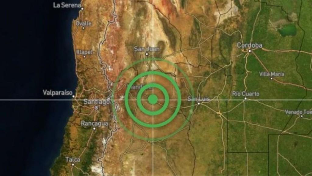Se registró un sismo de 5,2 grados con epicentro a 69 kilómetros de Mendoza capital