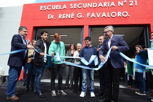 Zamora inauguró el nuevo edificio de la Escuela Secundaria N° 21 de Benavídez
