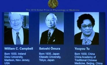 El Nobel de Medicina a tres investigadores por el tratamiento contra la malaria y parásitos