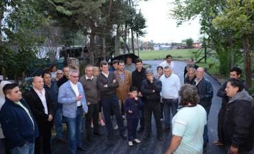 Zamora recorrió nuevos asfaltos en Ricardo Rojas