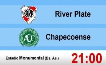 River recibe a Chapecoense por los cuartos de final de la Copa Sudamericana