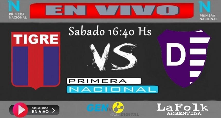 EN VIVO Tigre Vs Villa Dálmine desde las 16:40 Hs por La Folk Argentina 9º fecha zona 2 del torneo de Primera Nacional