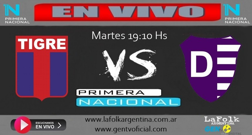 Tigre Vs Villa Dálmine por 9º fecha zona 2 del torneo de Primera Nacional, EN VIVO por La Folk Argentina
