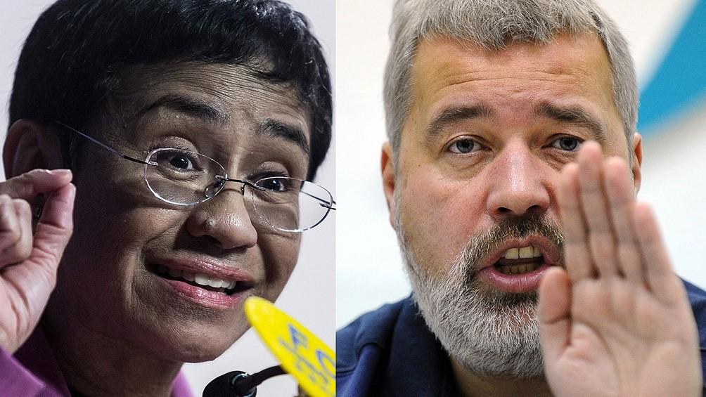La periodista filipina Maria Ressa y el ruso Dimitri Muratov ganaron el Nobel de la Paz