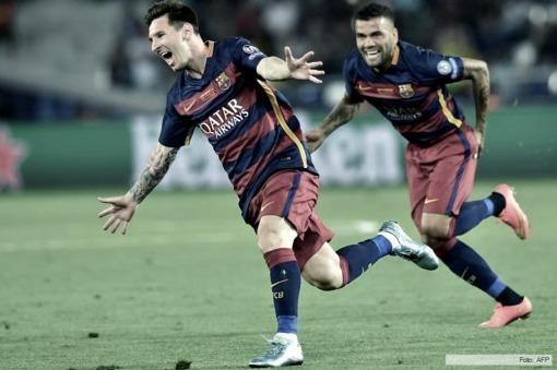 Con dos tantos de Lionel Messi Barcelona goleó en el Camp Nou