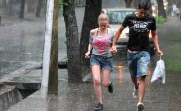 Alerta por tormentas fuertes con abundantes lluvias ráfagas y caída de granizo