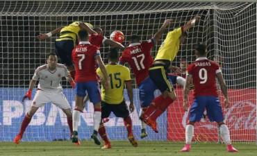 Chile se durmió Colombia sorprendió y terminaron iguales