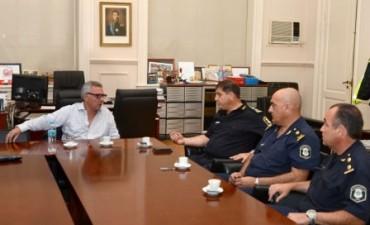 Julio Zamora recibió a las nuevas autoridades policiales de Tigre