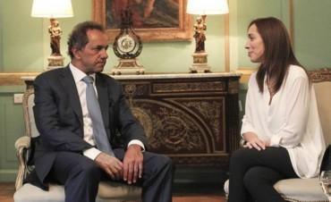 """Vidal calificó como  """"muy buena"""" la reunión con Scioli"""