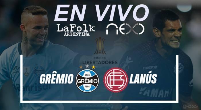 Final en VIVO: Lanús vs Gremio, Copa Libertadores 2017 desde las 20 Hs por NEXO 104.9 Mhz