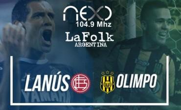 Lanús-Olimpo octava fecha de la Superliga Argentina 14:00 Hs en VIVO por NEXO 104.9 Mhz y La Folk Argentina