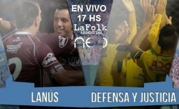 Defensa y Justicia vs Lanús  17:00 Hs en VIVO por NEXO 104.9 Mhz y La Folk Argentina