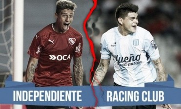 Clásico en VIVO: Racing vs Independiente, 21 Hs por NEXO 104.9 Mhz y La Folk Argentina