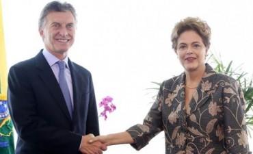 Comenzó el encuentro entre Macri y Dilma Rousseff en el palacio de gobierno