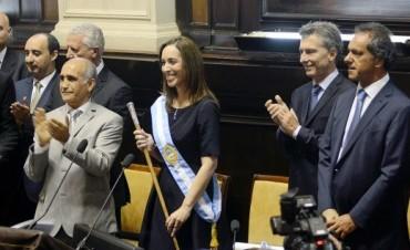 María Eugenia Vidal prometió trabajar todos los días y gobernar para todos