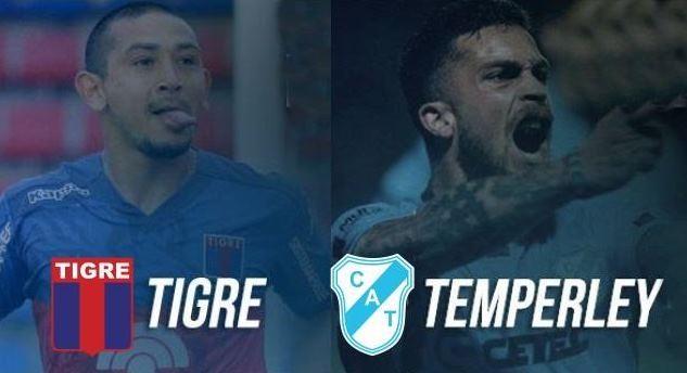 Temperley Tigre por una nueva fecha del certamen. en VIVO por ArgenTV, La Folk Argentina y Nexo 104.9 Mhz