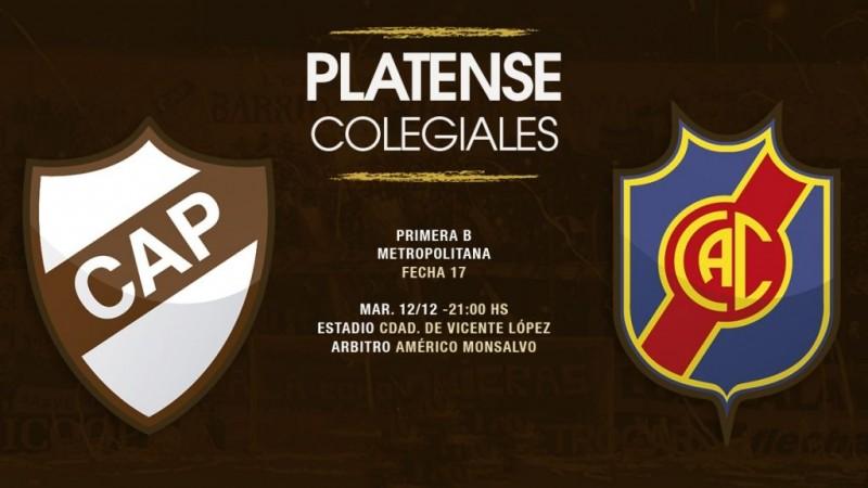 Platense vs Colegiales Primera B Metropolitana en VIVO por ArgenTV, La Folk Argentina y Nexo 104.9 Mhz